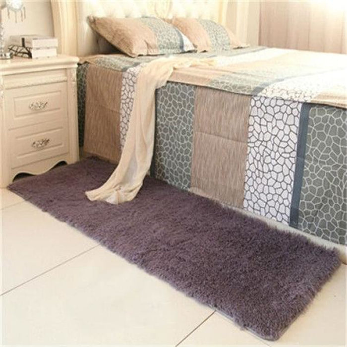 Bedroom carpet 80*160cm Middle size long hair (4-5cm) living room carpet 50*160 kitchen rug 120*170cm Customize modern room mat - purple