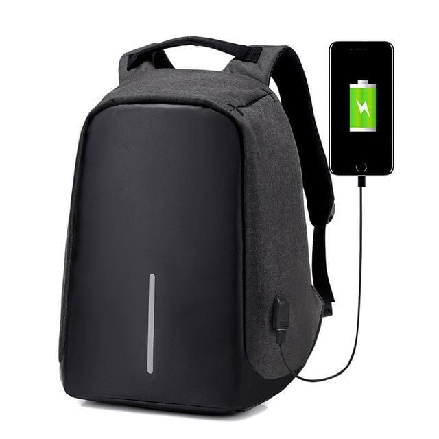 Best Anti-Theft USB Charging Travel Backpack - black - Backpack