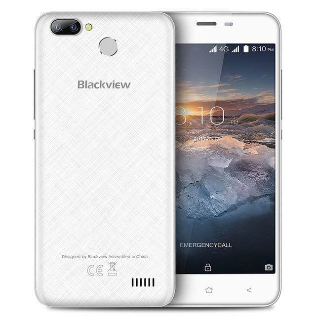 Blackview A7 Pro Smartphone Android 7.0 MTK6737 Quad core 5.0inch HD 4G Mobile phone 2GB+16GB Dual Rear Camera GPS Fingerprint - Standard