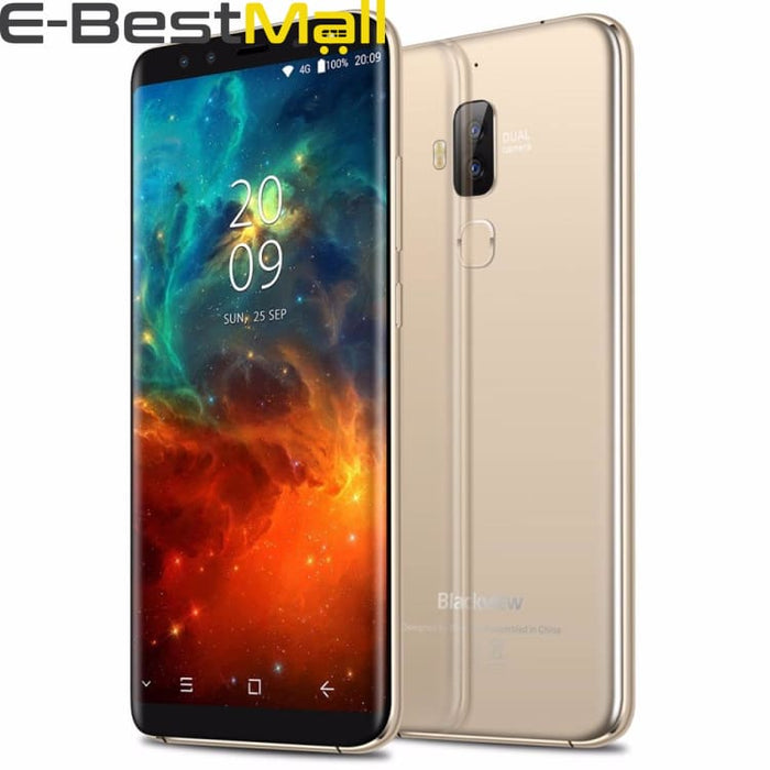 Blackview S8 4GB+64GB Dual Back Cameras + Dual Front Cameras Fingerprint Identification 5.7 Android 7.0 MTK6750T Octa Core 4G - Mobile Phone