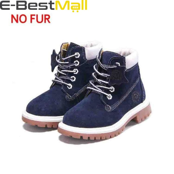 Boys & Girls Boots Genuine Leather - blue autumn / 1 - Boots