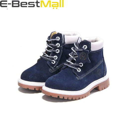Boys & Girls Boots Genuine Leather - blue winter / 1 - Boots