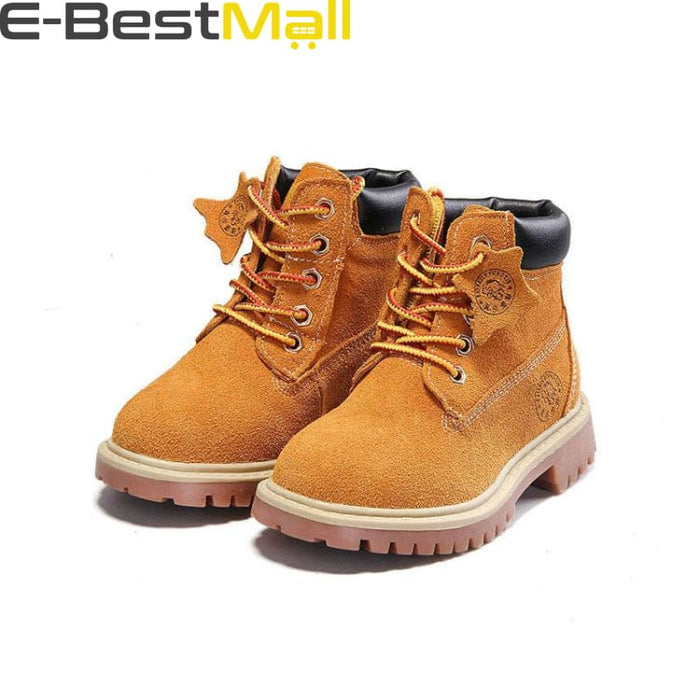 Boys & Girls Boots Genuine Leather - yellow autumn / 1 - Boots