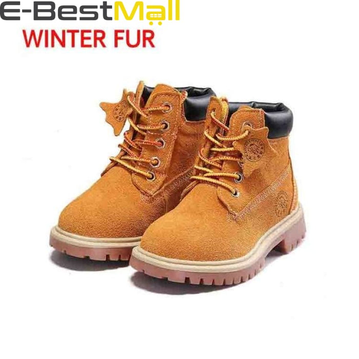 Boys & Girls Boots Genuine Leather - yellow winter / 1 - Boots