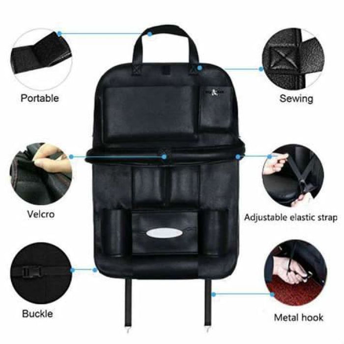 Car Seat Back Organizer Portable - Stowing Tidying