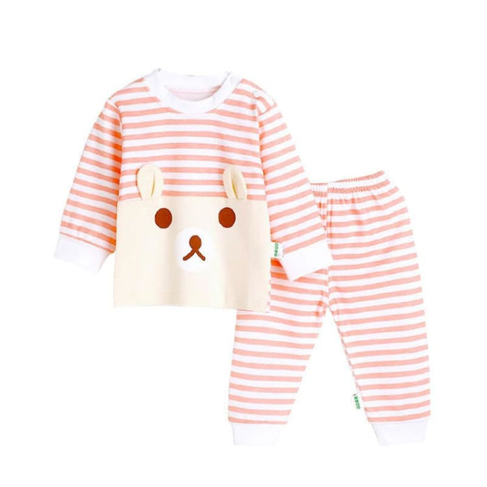 Cartoon Bear Two Pieces Set - Cotton - Clothing Sets