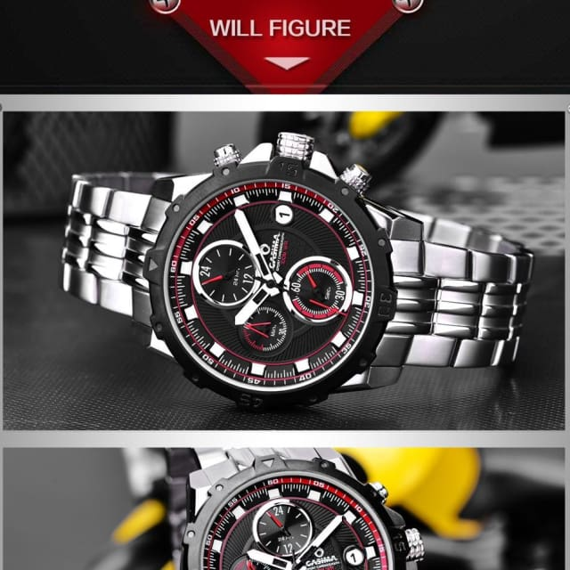 CASIMA - Sport Luxury watches for mens casual charm chronograph quartz waterproof 100m - Quartz & Sport