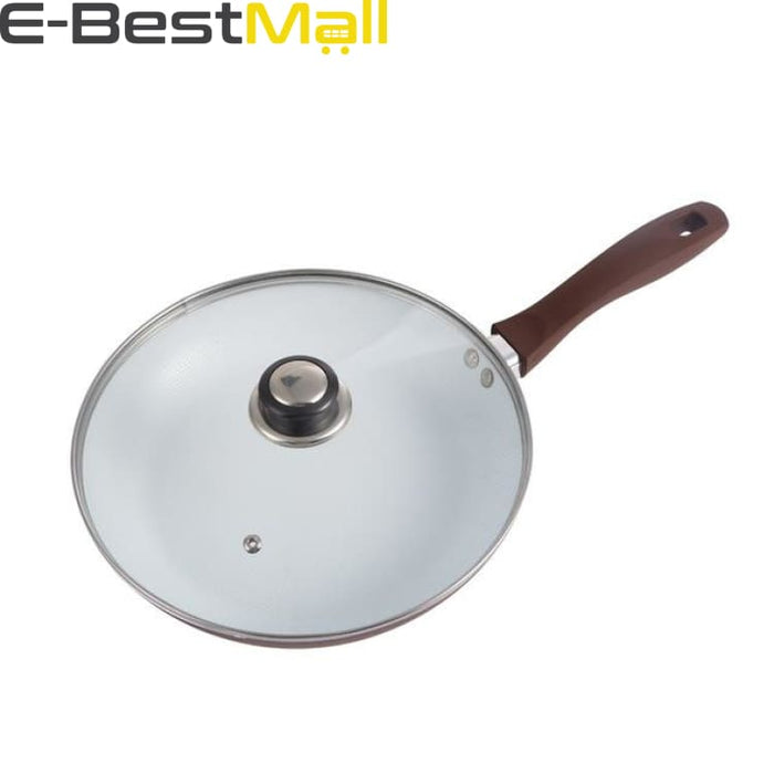Ceramic Frying Pan 26cm Non-stick With/Without Glass Lid - With LId - Pans