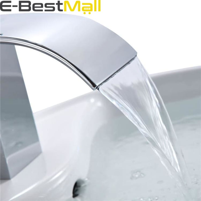 Chrome Waterfall Sink Faucet - Basin Faucets
