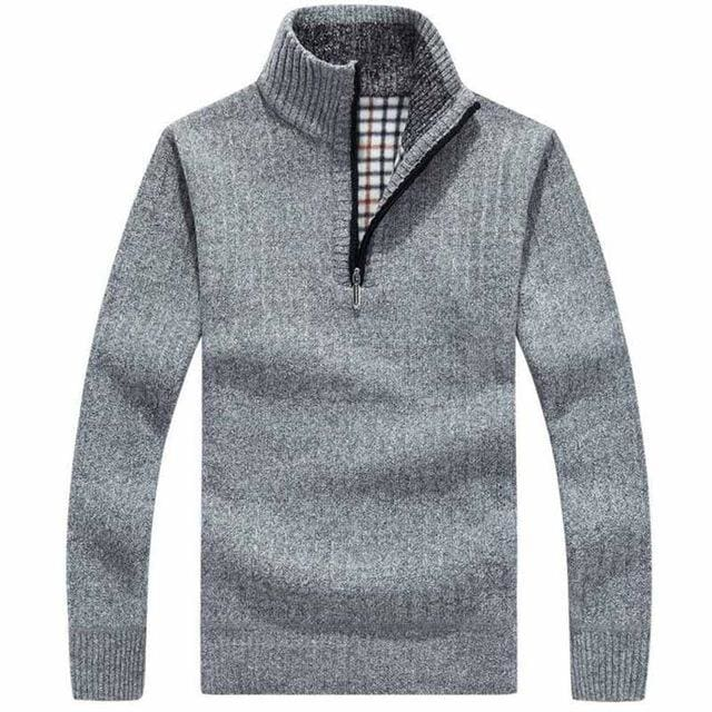 Classic Mens Pullovers - Light gray / M