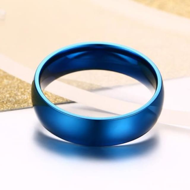 Classic Wedding Ring for Men / Women Gold / Blue / Silver - Ring