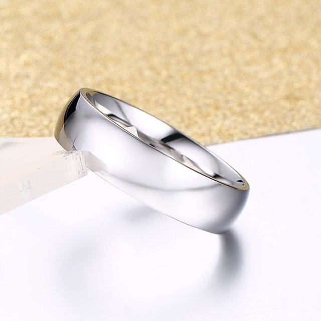 Classic Wedding Ring for Men / Women Gold / Blue / Silver - 4 / silver - Ring