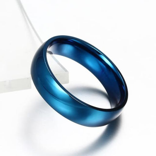 Classic Wedding Ring for Men / Women Gold / Blue / Silver - 4 / blue - Ring