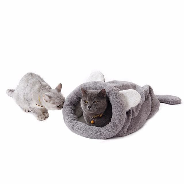 Cute Cat & Dog Sleeping Bag - Gray / M 50x40cm - Pet Sleeping Bag