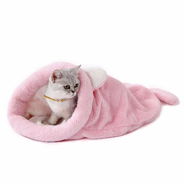 Cute Cat & Dog Sleeping Bag - pink / M 50x40cm - Pet Sleeping Bag
