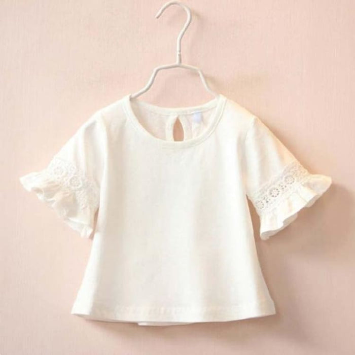 Cute T shirt For Girls - white / 2T - Tees