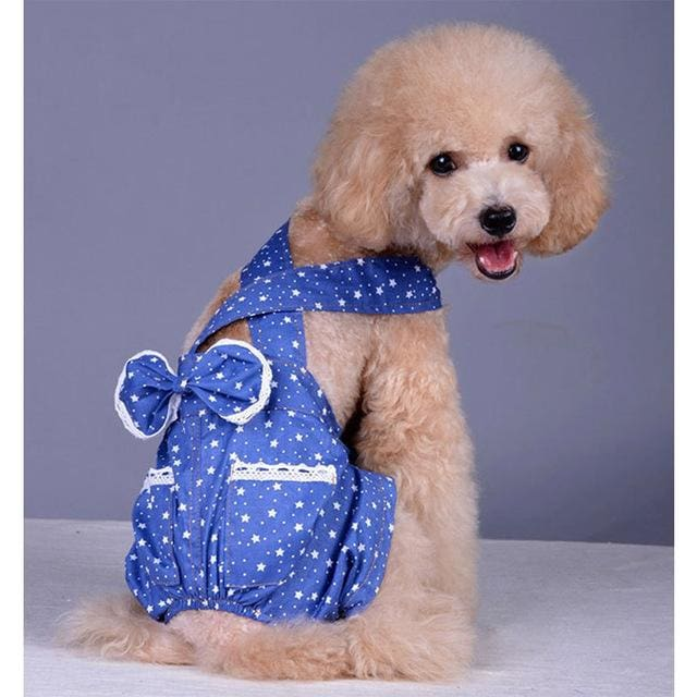 Dog Clothe Blue Star - Blue / S - Dog Clothing