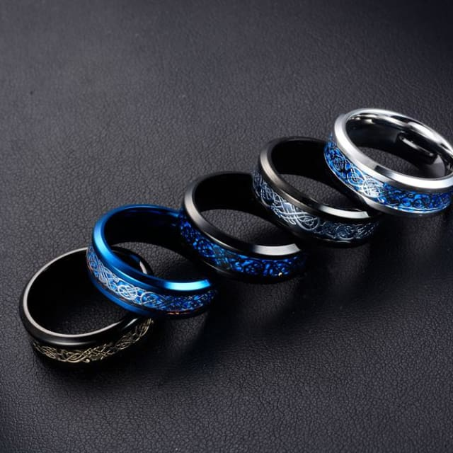 Dragons Breath - Steel Viking Ring