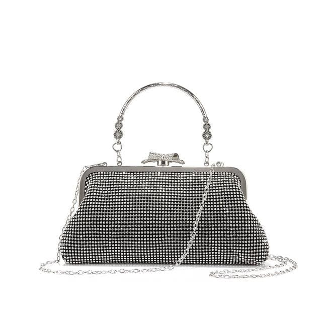 Evening bag for womens new design with diamond lattice - Black / China / Mini(Max Length<20cm) - Evening Bags