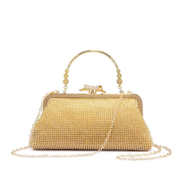 Evening bag for womens new design with diamond lattice - Gold / China / Mini(Max Length<20cm) - Evening Bags