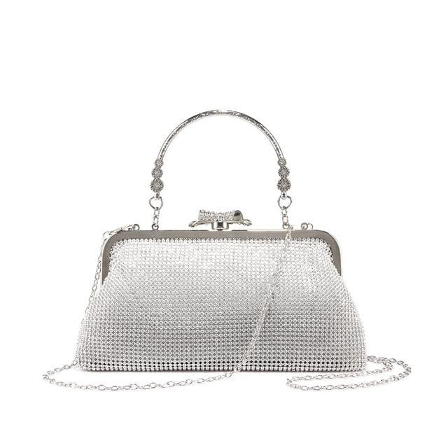 Evening bag for womens new design with diamond lattice - Silver / China / Mini(Max Length<20cm) - Evening Bags