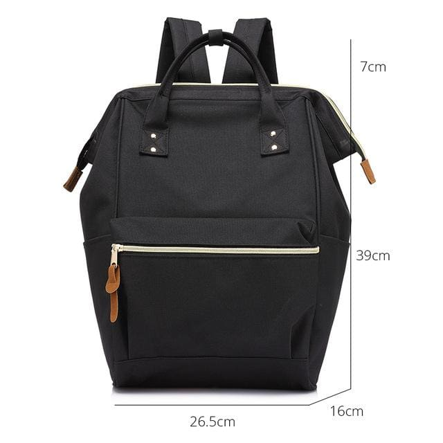 Fashion backpack for womens school backpack for teenage girls large capacity unisex - Black Large / China - Softback