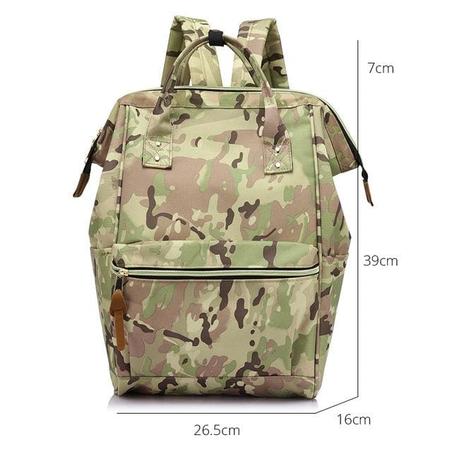 Fashion backpack for womens school backpack for teenage girls large capacity unisex - Camouflage Large / China - Softback