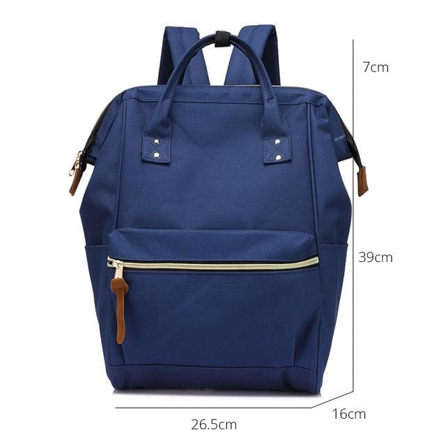 Fashion backpack for womens school backpack for teenage girls large capacity unisex - Dark Blue Large / China - Softback