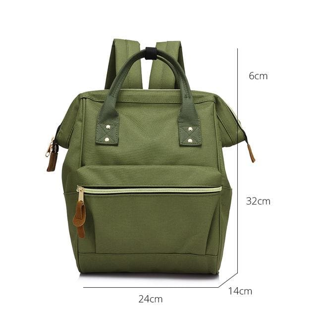 Fashion backpack for womens school backpack for teenage girls large capacity unisex - Green Small / China - Softback