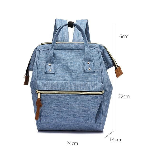 Fashion backpack for womens school backpack for teenage girls large capacity unisex - Light Blue Small / China - Softback