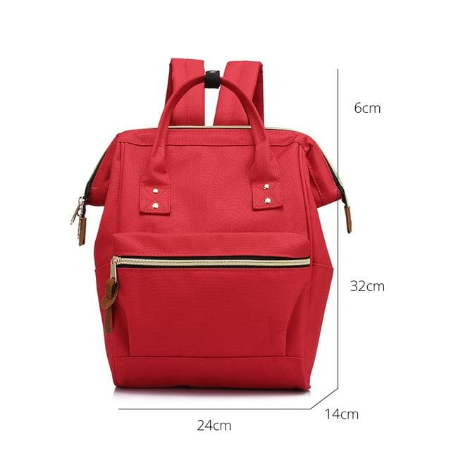 Fashion backpack for womens school backpack for teenage girls large capacity unisex - Red Small / China - Softback