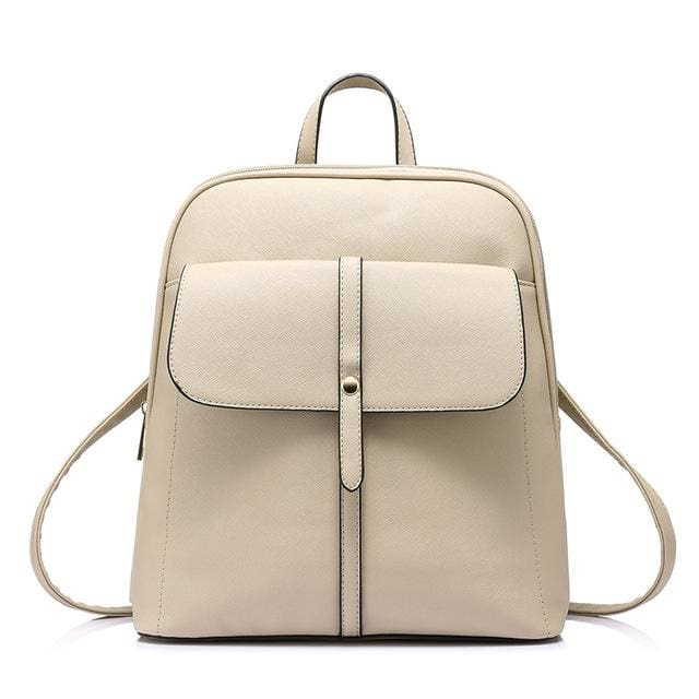 Fashion backpacks for teenage girls high quality - Beige / China / 17 Inches - Backpack