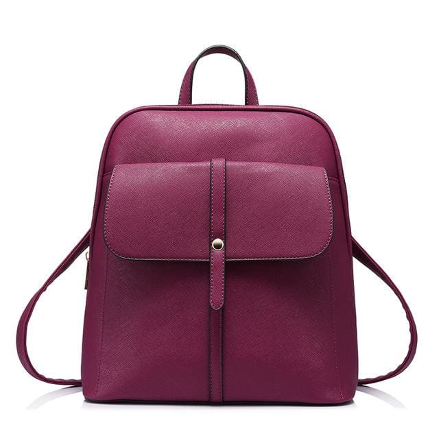 Fashion backpacks for teenage girls high quality - Deep Burgundy / China / 17 Inches - Backpack