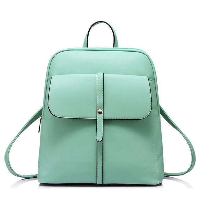Fashion backpacks for teenage girls high quality - Mint Green / China / 17 Inches - Backpack