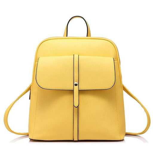 Fashion backpacks for teenage girls high quality - Yellow / China / 17 Inches - Backpack