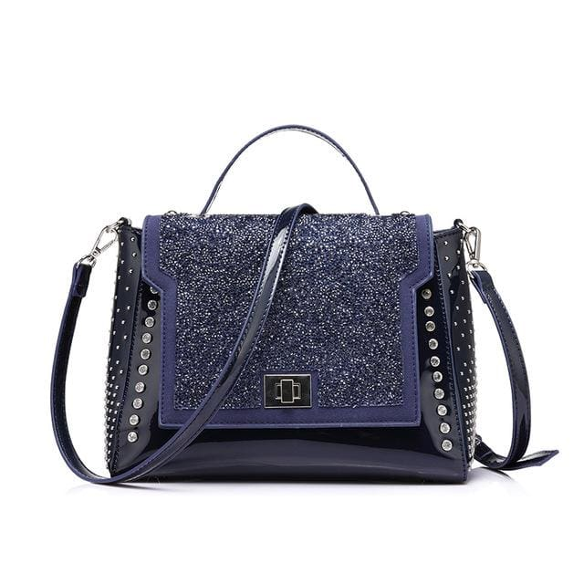 Fashion bag 2018 for womens. famous brands diamonds shoulder bag designer. handbag high quality messenger bags - Deep Blue / China /