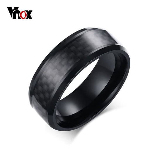 Fashion Black Carbon ring for mens - Ring