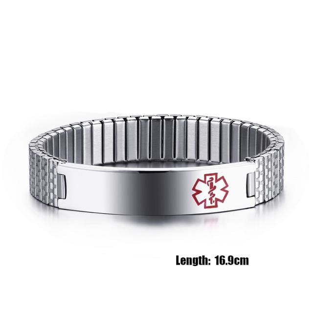 Fashion Bracelet for womens 2018 Medical Alert ID Bracelet - 16.9cm - Bracelet