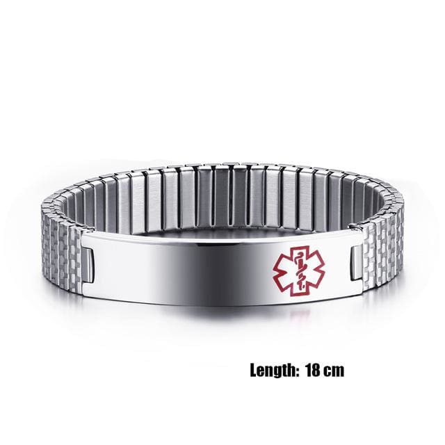 Fashion Bracelet for womens 2018 Medical Alert ID Bracelet - 18cm - Bracelet