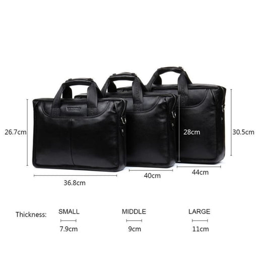 Fashion Business Bag For Men - Genuine Leather - Briefcases
