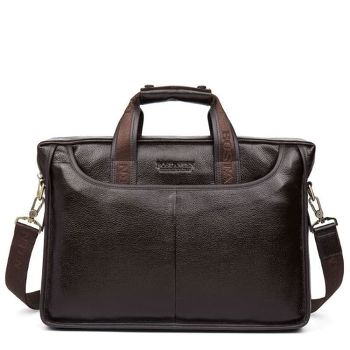 Fashion Business Bag For Men - Genuine Leather - coffee large size - Briefcases
