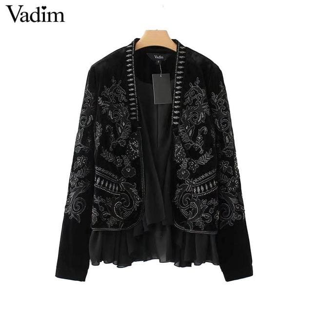 Fashion coat for womens long sleeve - Black / L - Coat