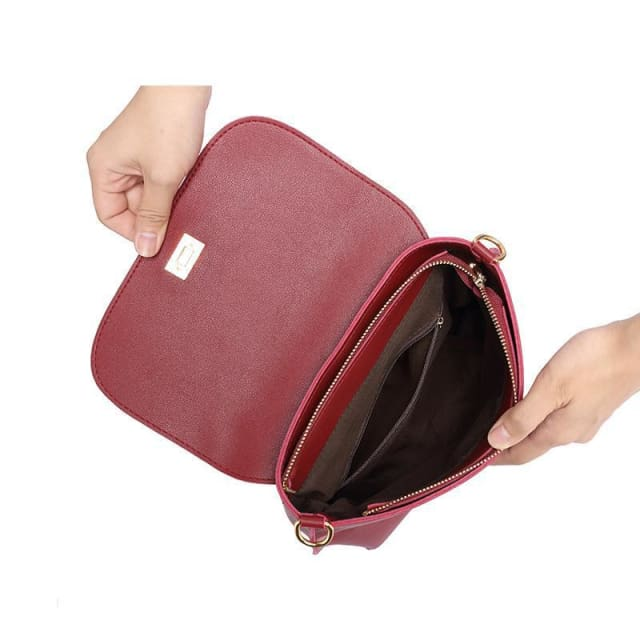 Fashion colored wide strap shoulder bag. female small handbag. solid flap crossbody bag for women. messenger bag - Handbags