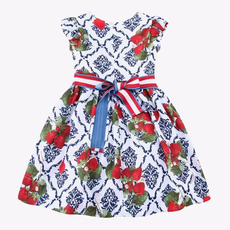 Fashion Girls Dress Summer - Strawberries Print - 2T - Girls Dress