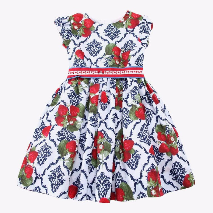 Fashion Girls Dress Summer - Strawberries Print - Girls Dress