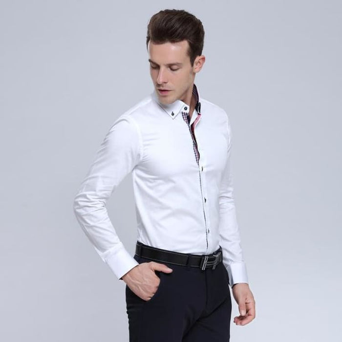 Fashion Mens Italian Shirt - White / S - Shirts