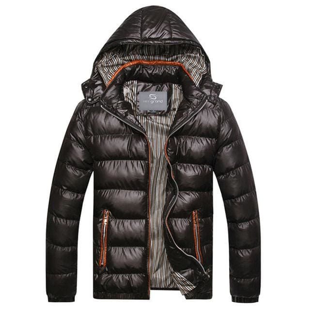 Fashion Mens Parkas Hooded - black / M - Parkas