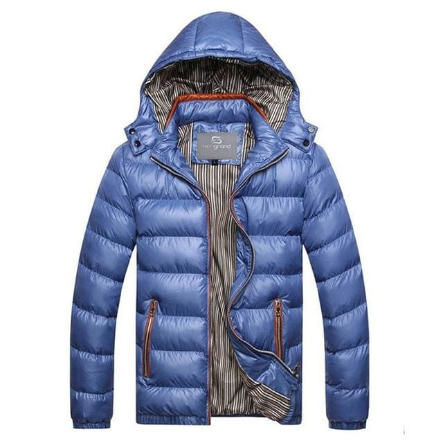 Fashion Mens Parkas Hooded - blue / M - Parkas