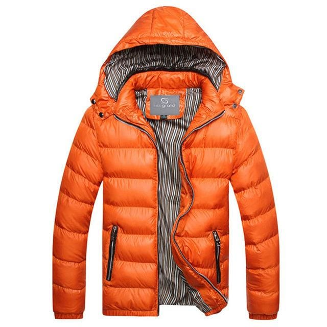 Fashion Mens Parkas Hooded - orange / M - Parkas