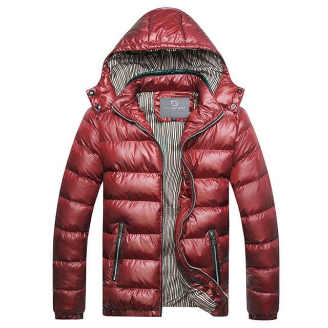 Fashion Mens Parkas Hooded - red / M - Parkas